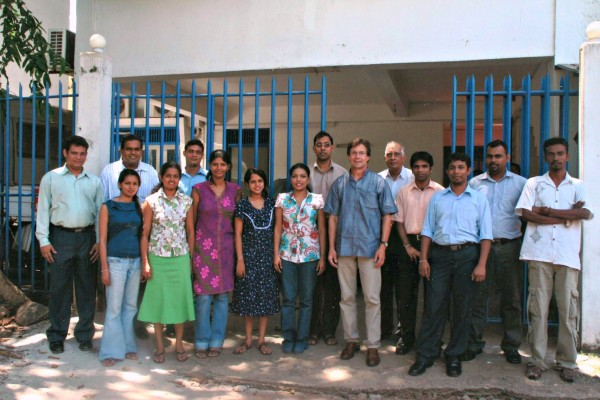 FCE staff members in Front of FCE Headquarters in Colombo. Courtesy of Joseph G. Bock.